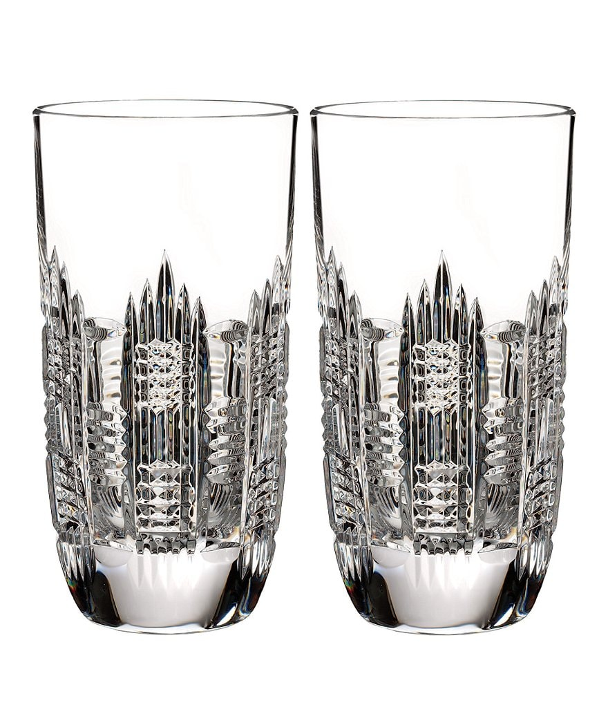 Waterford Dungarvan Crystal Highball Glass Pair