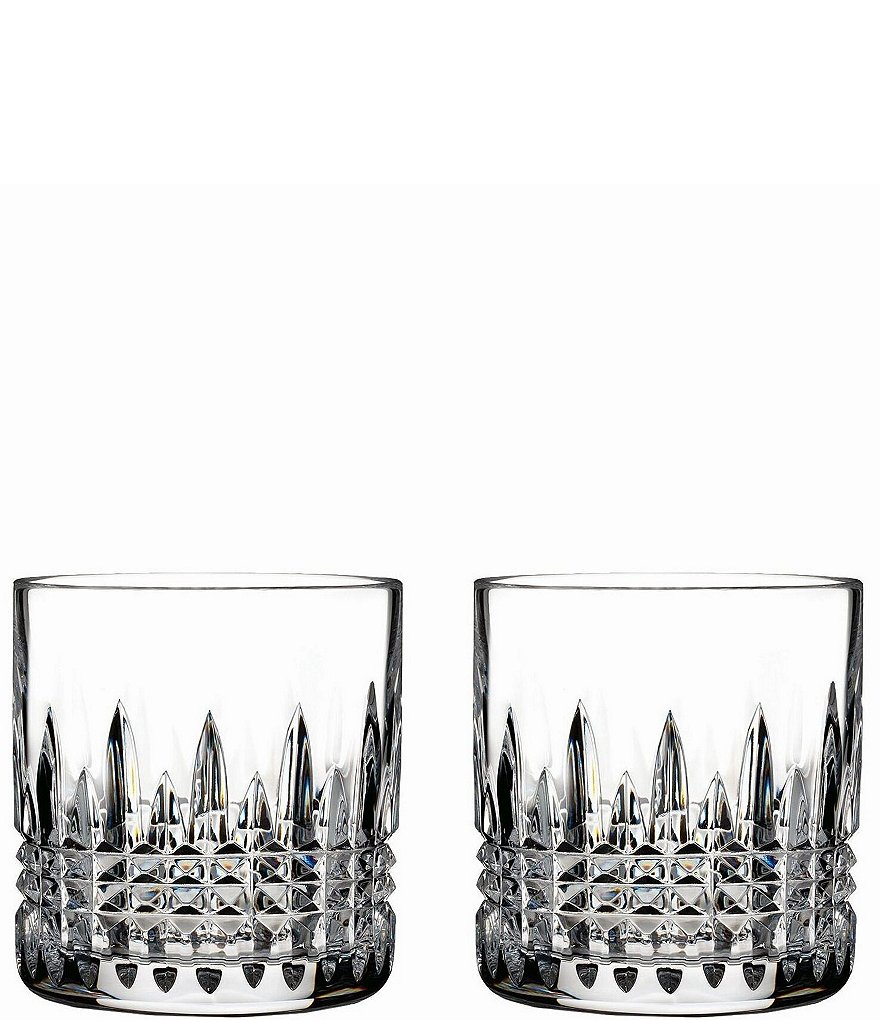Waterford Lismore Diamond Crystal 7 oz. Straight Sided Tumbler, Pair