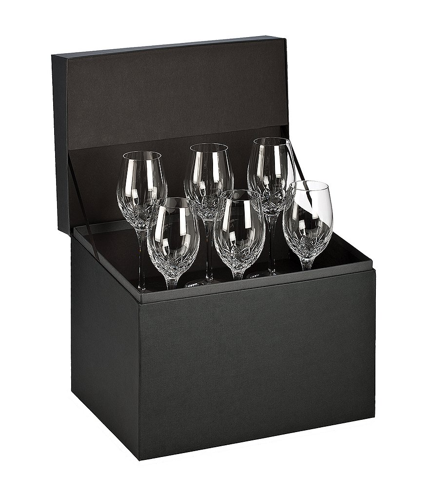 Waterford Lismore Essence 6-Piece Crystal White Wine Glass Boxed Set