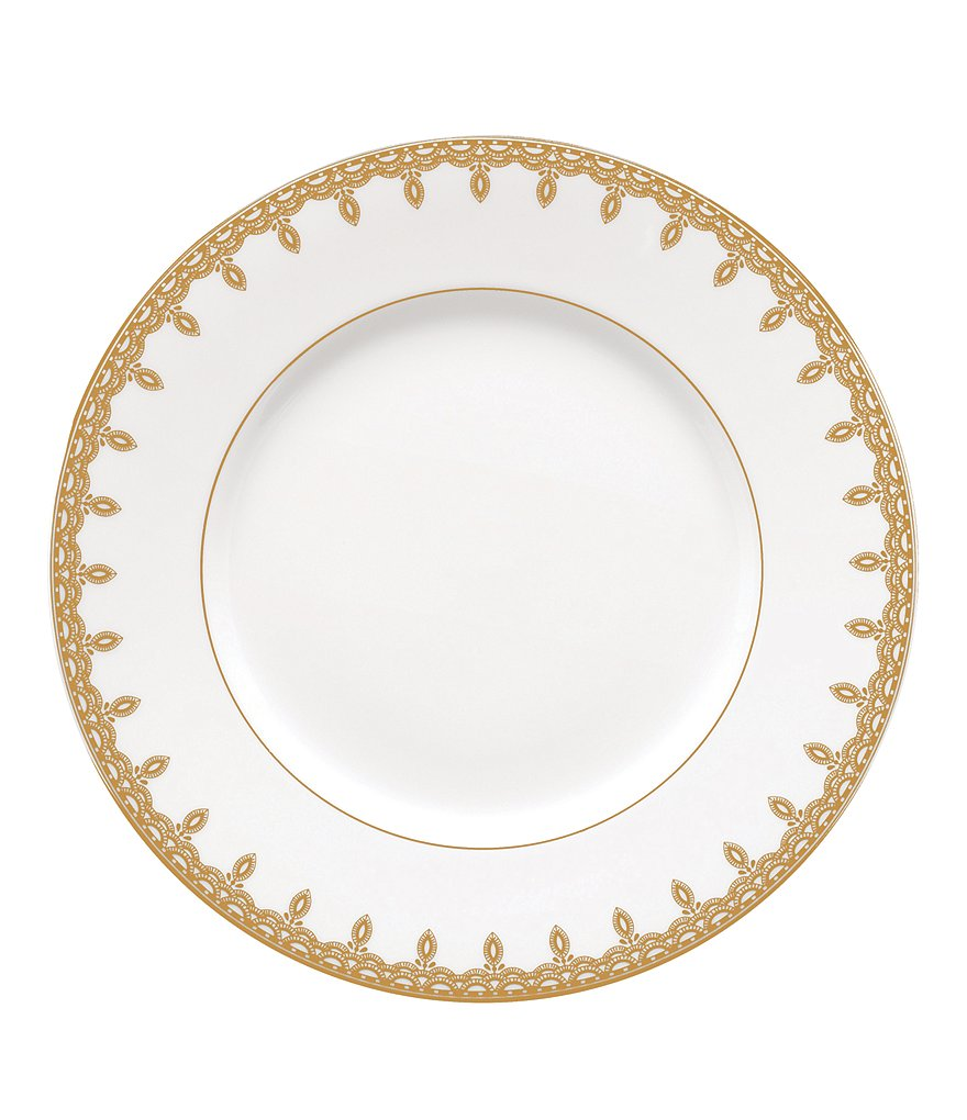 Waterford Lismore Lace Gold Accent Salad Plate