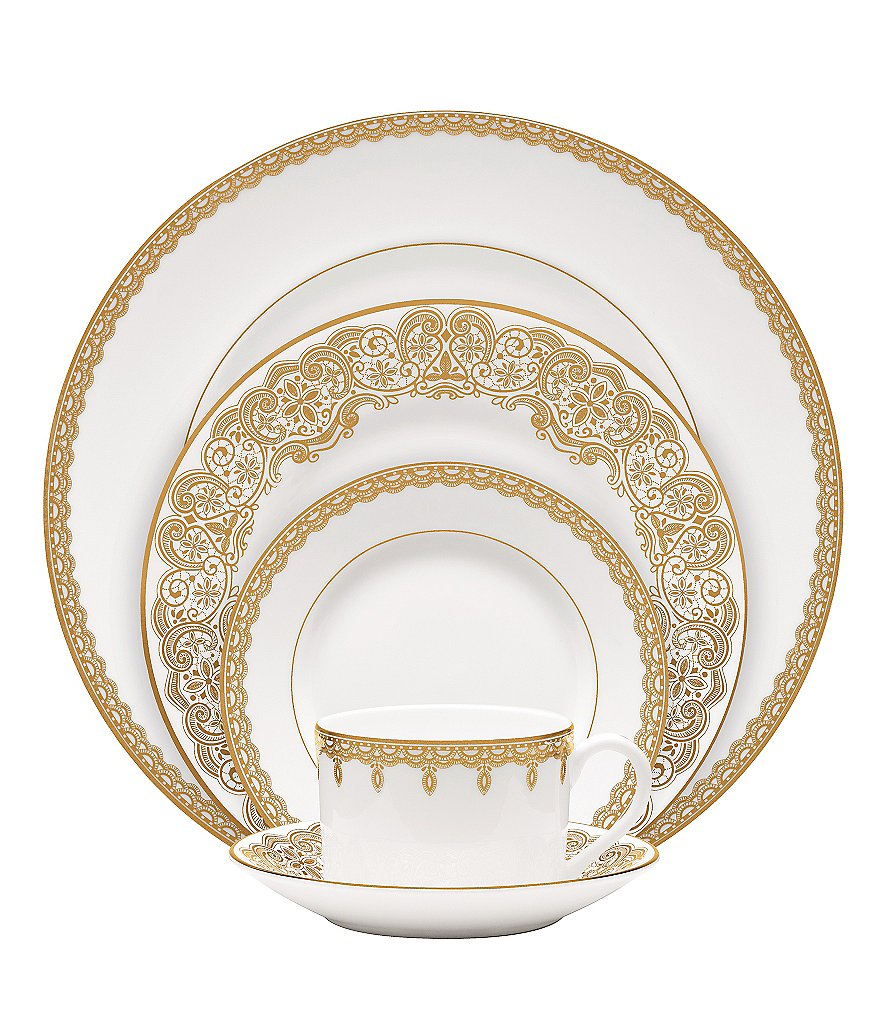 Waterford Lismore Lace Gold Bone China