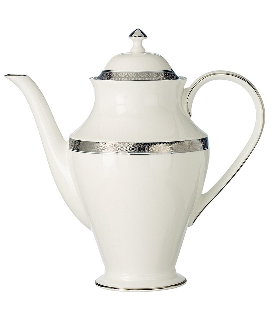 Waterford Newgrange Platinum Celtic Scroll Bone China Coffeepot