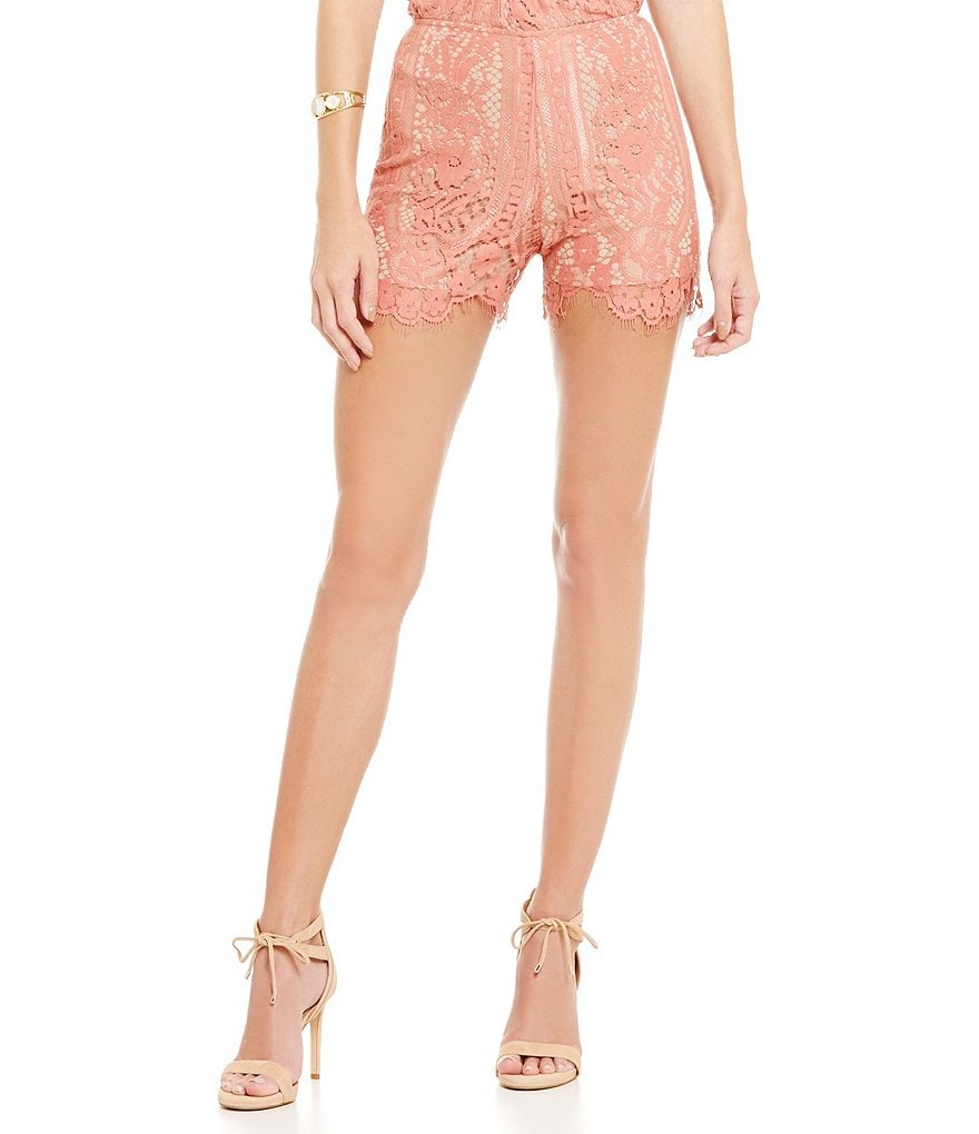 WAYF Dew Drop Lace Shorts