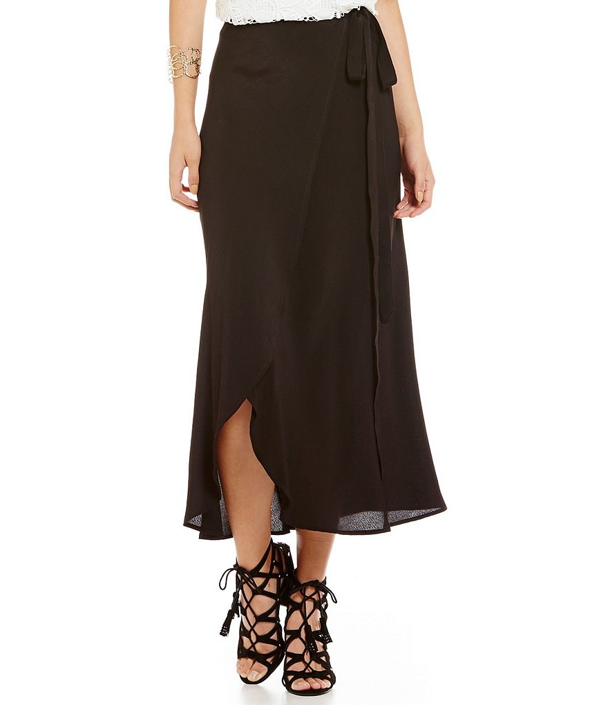 WAYF Wrap Midi Skirt
