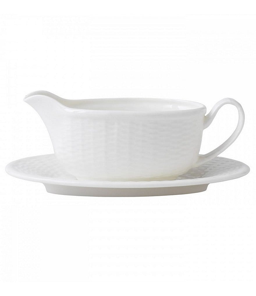 Wedgwood Nantucket Basket Gravy Boat