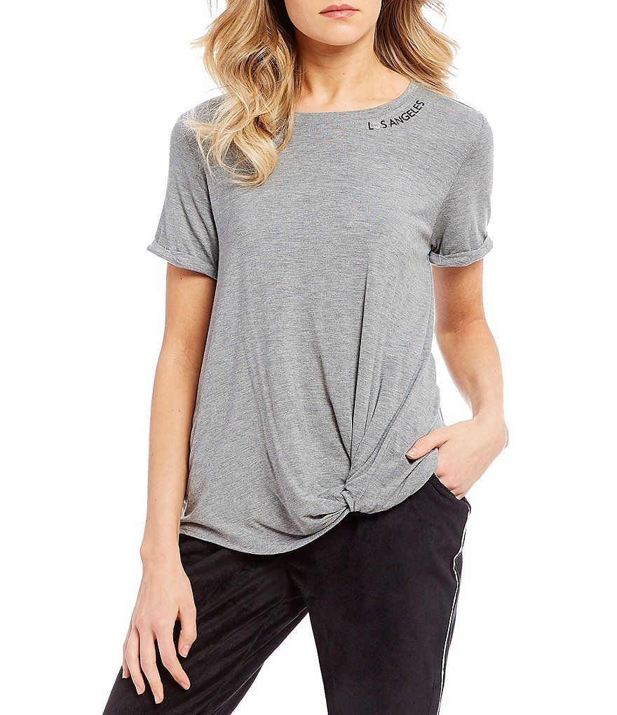 West Coast by Coco Knot Front Tee