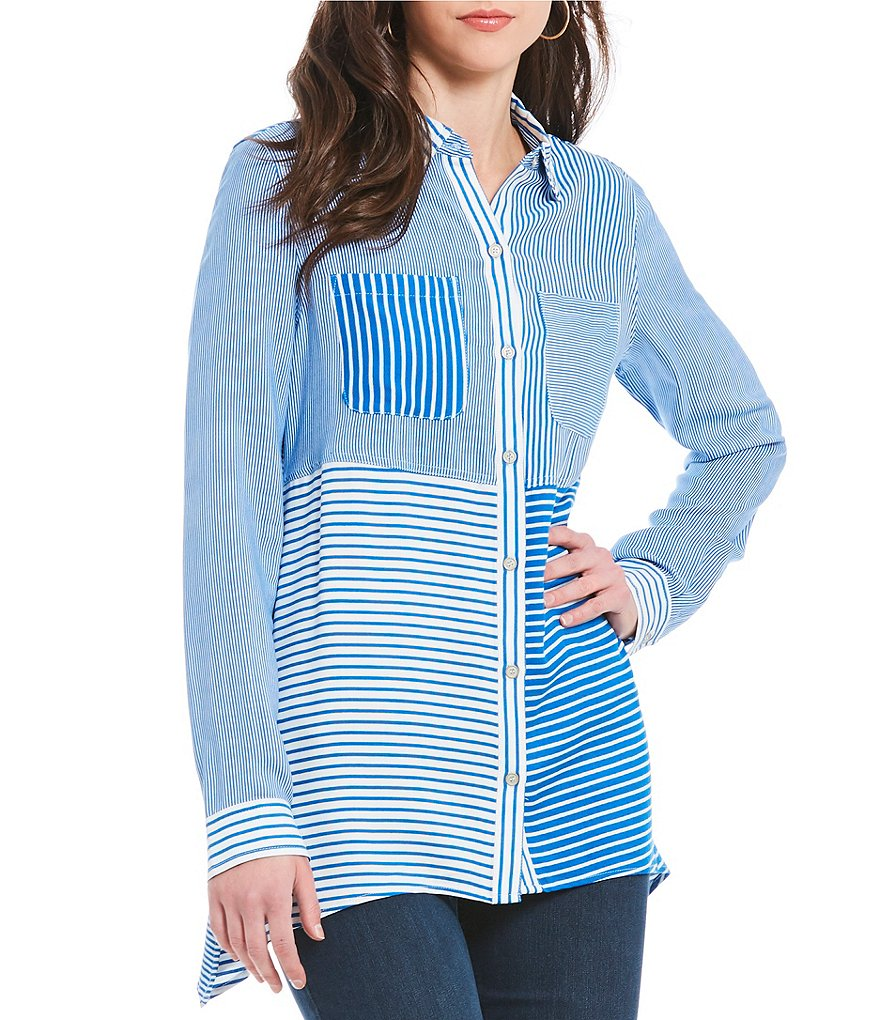 Westbound 2 Pocket Striped Tunic Top