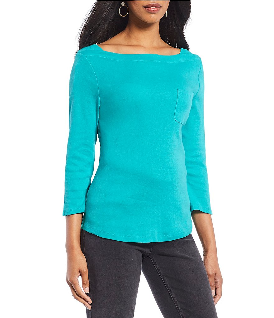 Westbound 3/4 Sleeve Boatneck Top