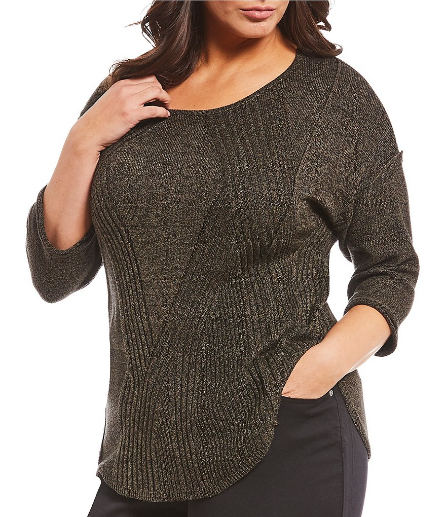 Westbound Plus Size Mixed Rib Sweater