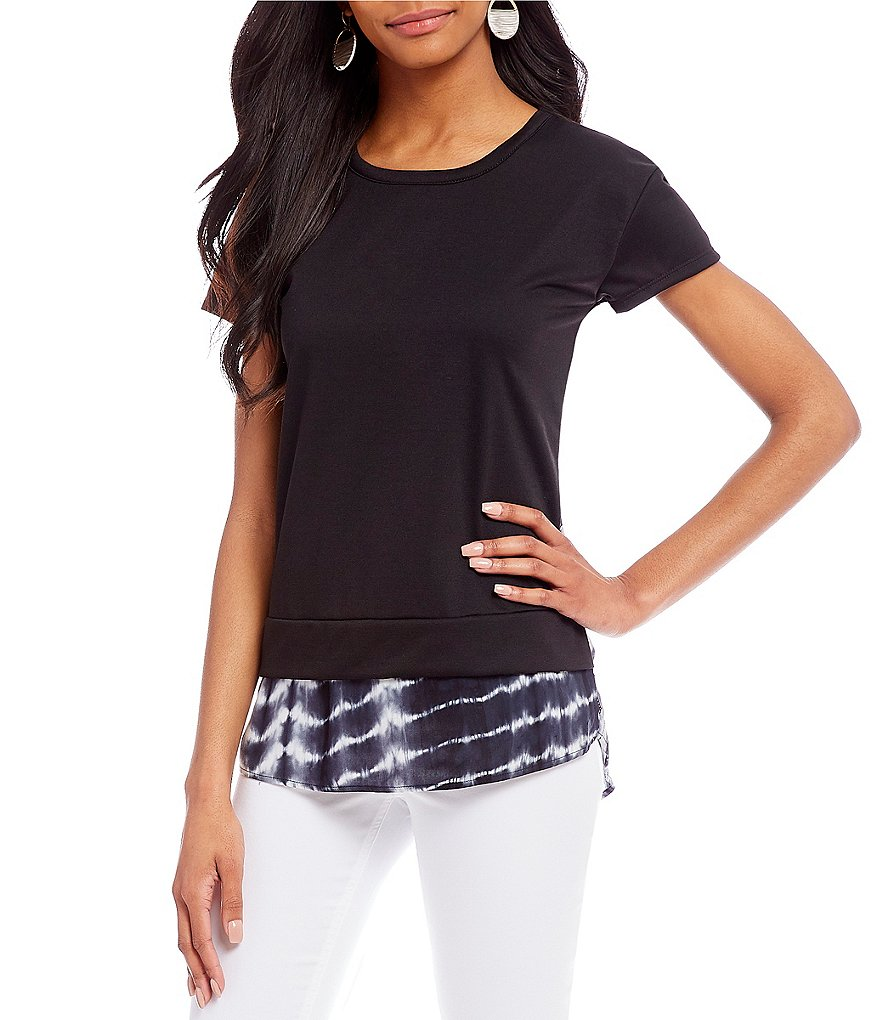 Westbound Short Sleeve Two-Fer Top