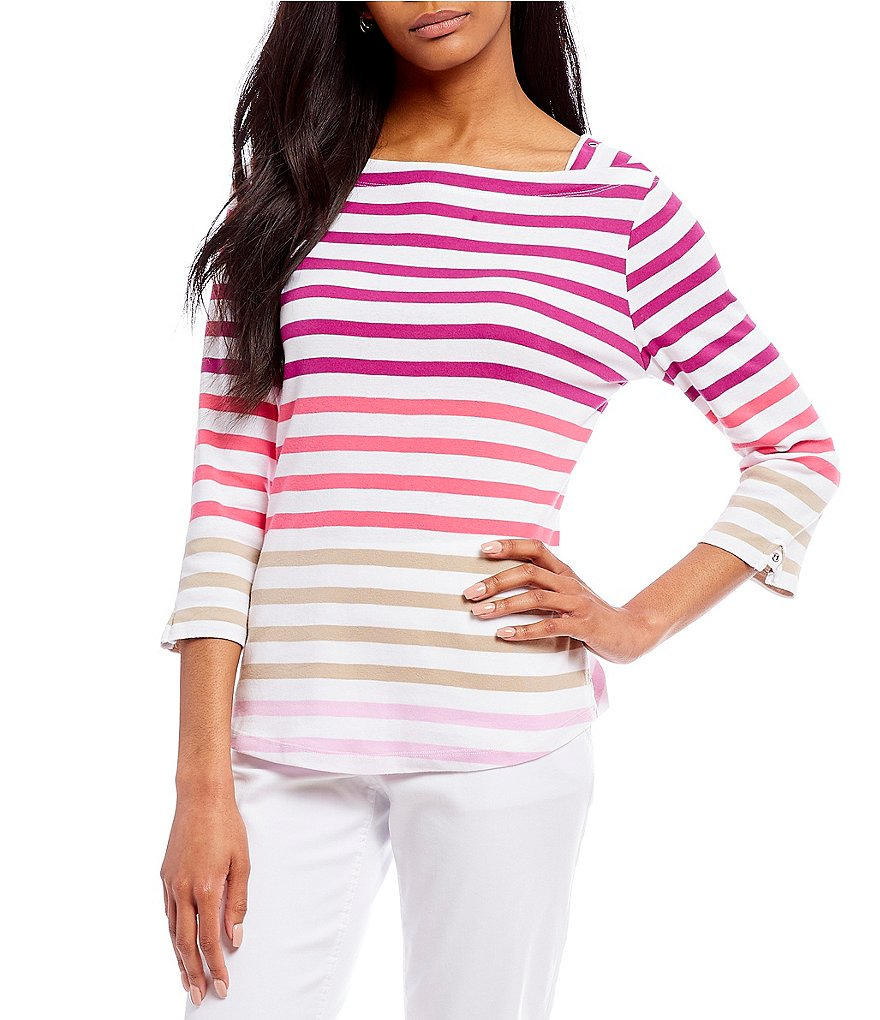 Westbound Stripe Boatneck Top