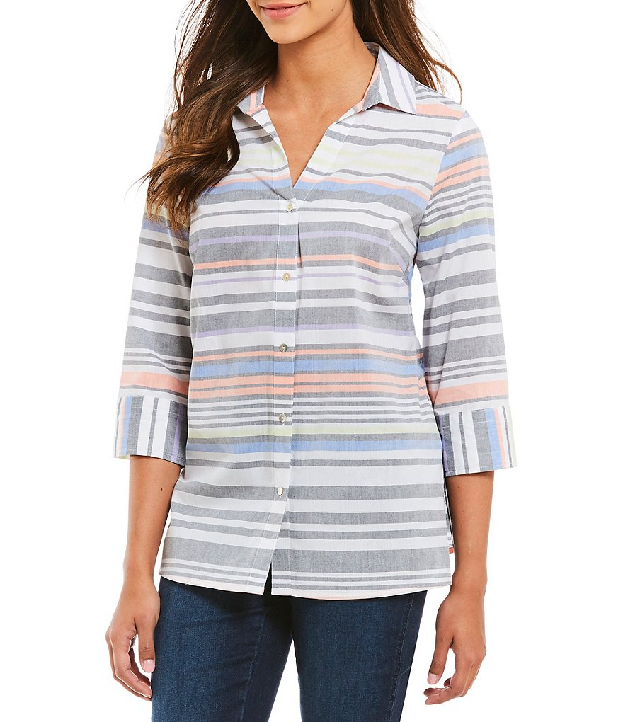 Westbound Stripe Button Back Tunic