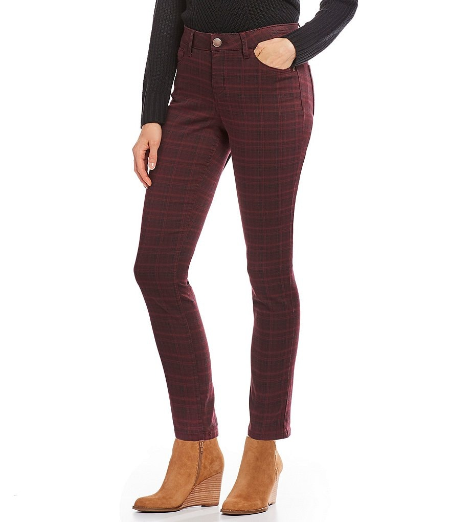 Westbound THE FIT FORMULA Plaid Skinny Pants