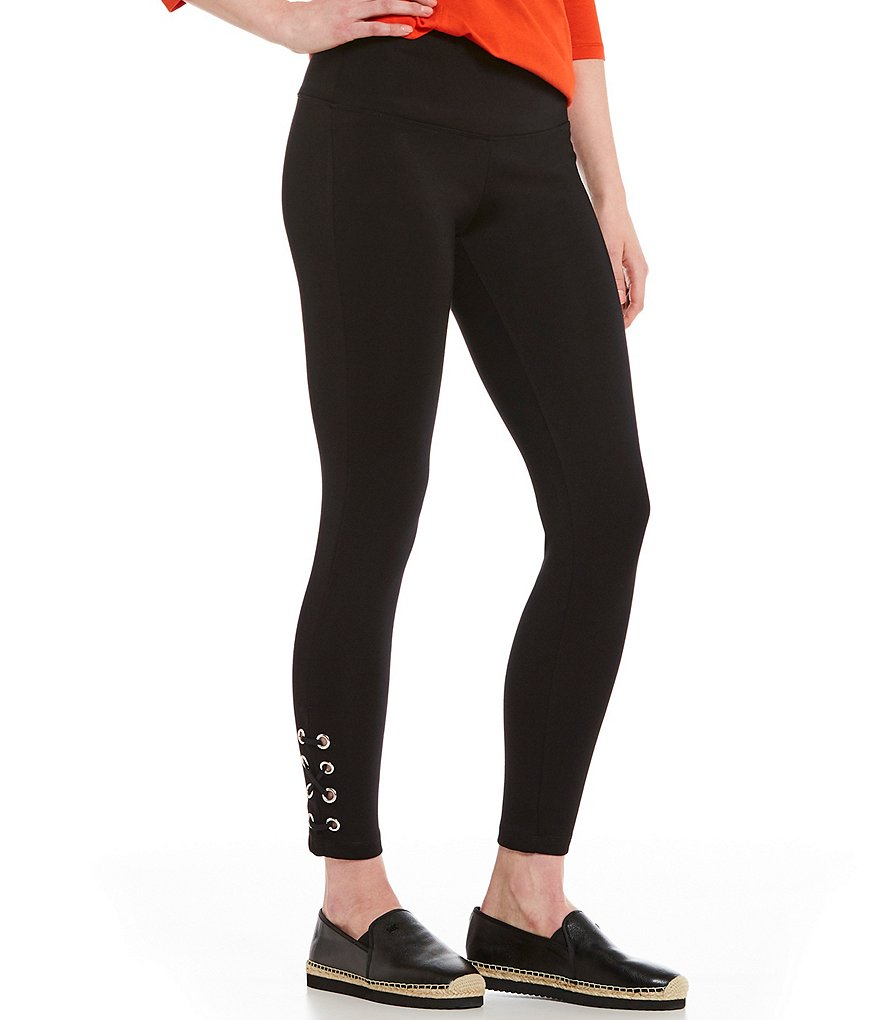 Westbound the PARK AVE fit Lace Up Grommet Leggings
