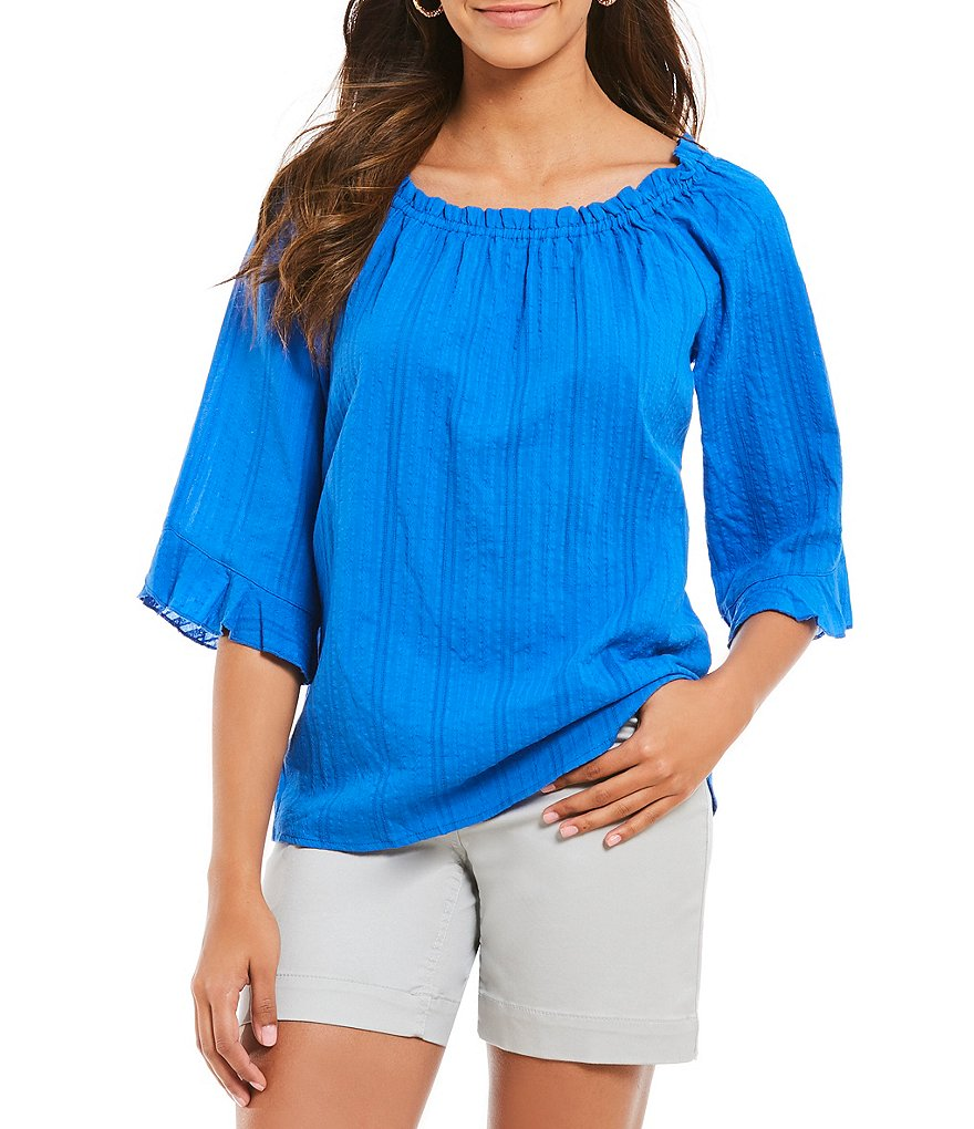 Westbound Tulip Sleeve Peasant Top