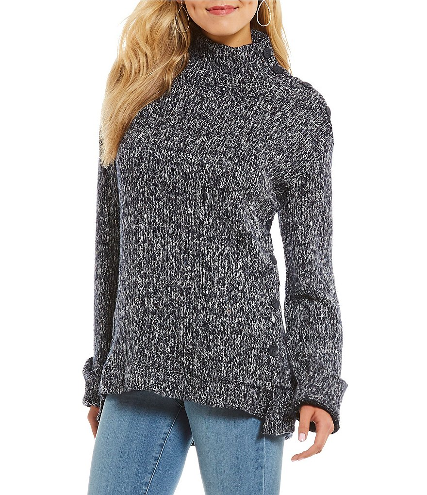 William Rast Charlie Cozy Mockneck Long Sleeve Sweater