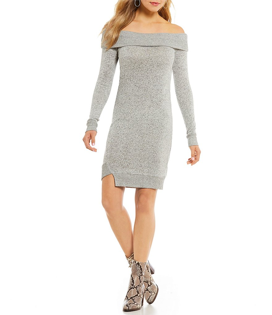 William Rast Kennedy Cozy Off-The Shoulder Sweater Dress