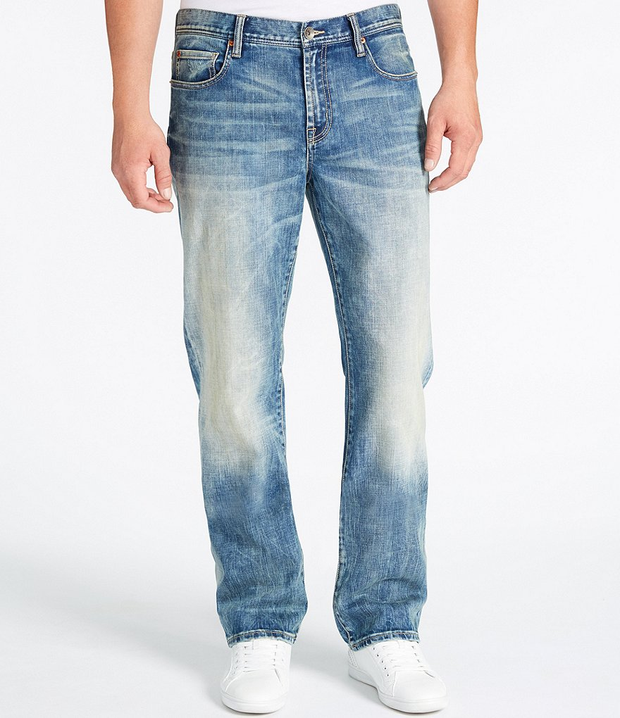 William Rast Legacy Aspen Relaxed-Fit Straight-Leg Faded Denim Jeans