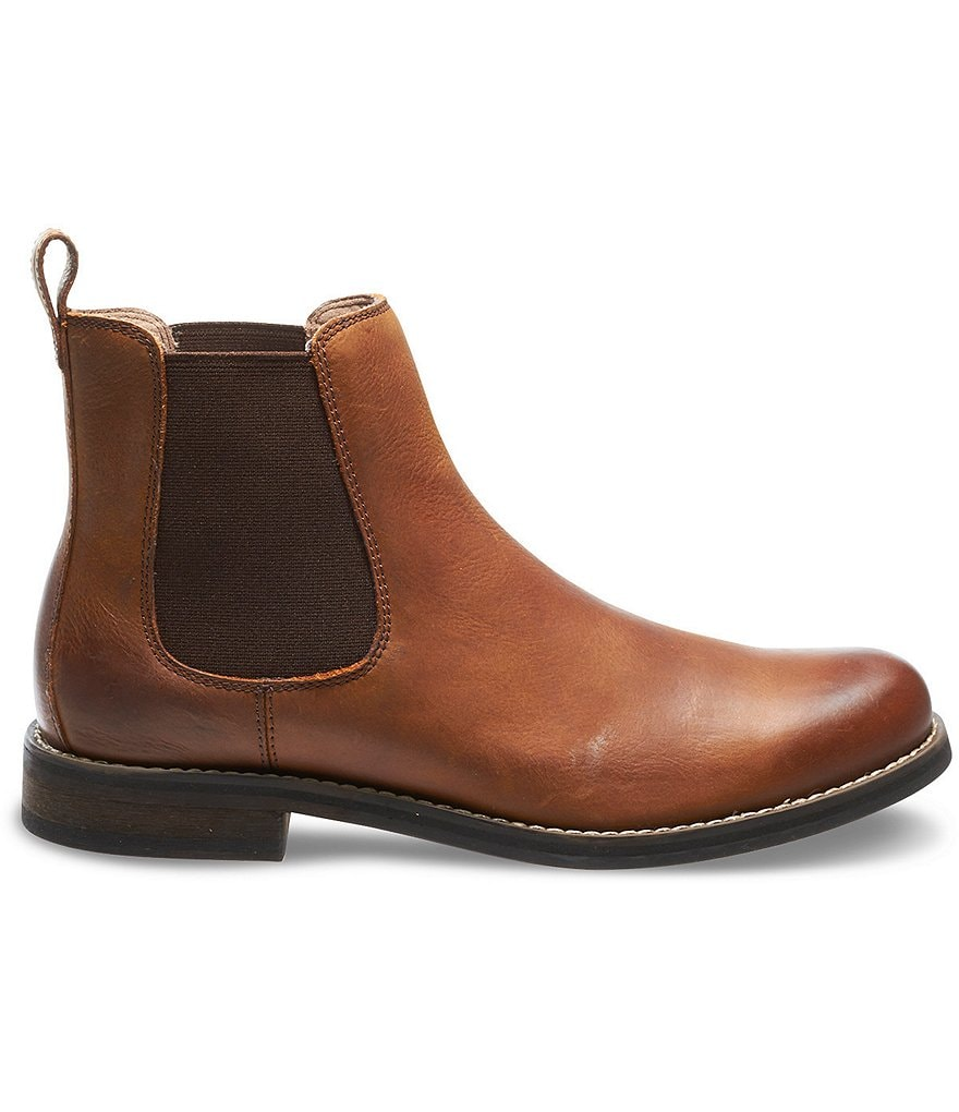 Wolverine Men's Garrick Chelsea Leather Gore Side Pull On Short Boots