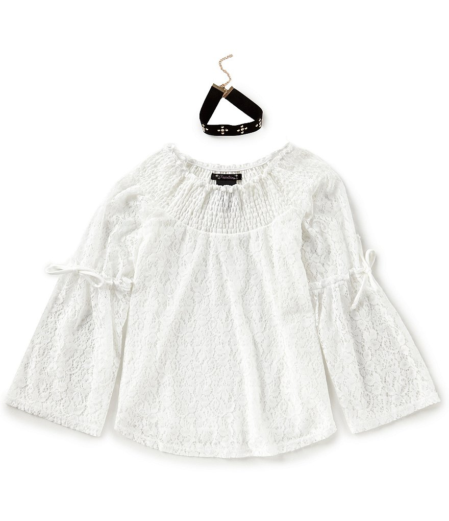 Xtraordinary Big Girls 7-16 Lace Off-The-Shoulder Top