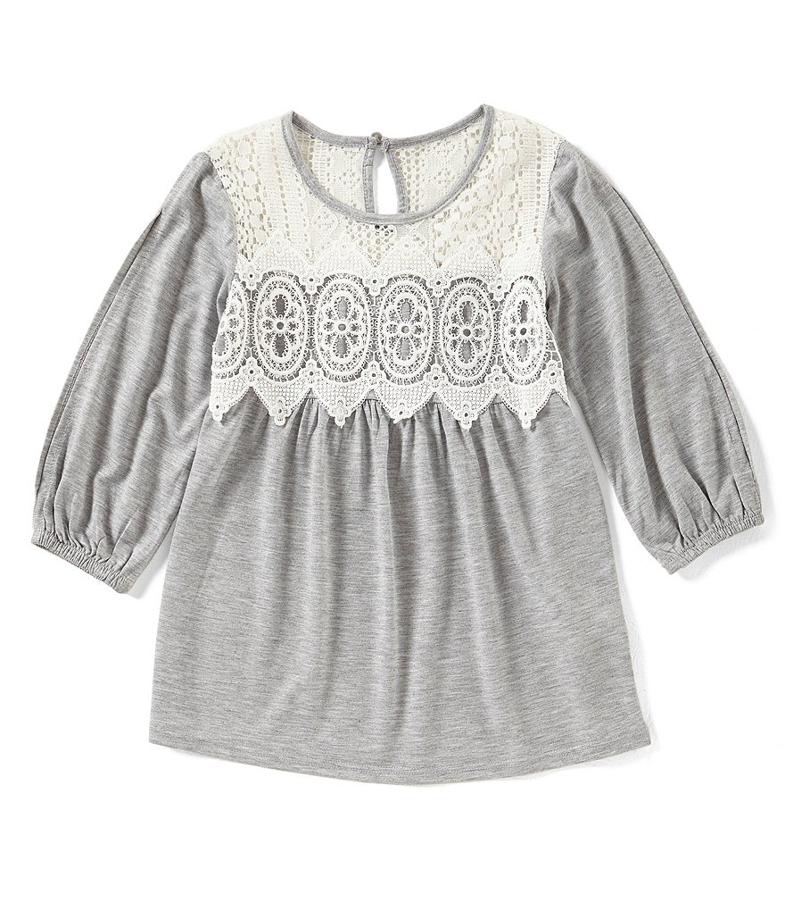 Xtraordinary Big Girls 7-16 Lace Overlay Top
