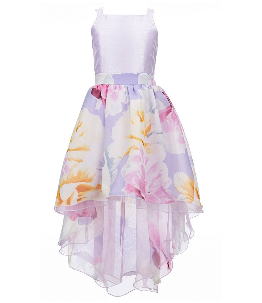 Xtraordinary Big Girls 7-16 Solid/Floral High-Low Dress