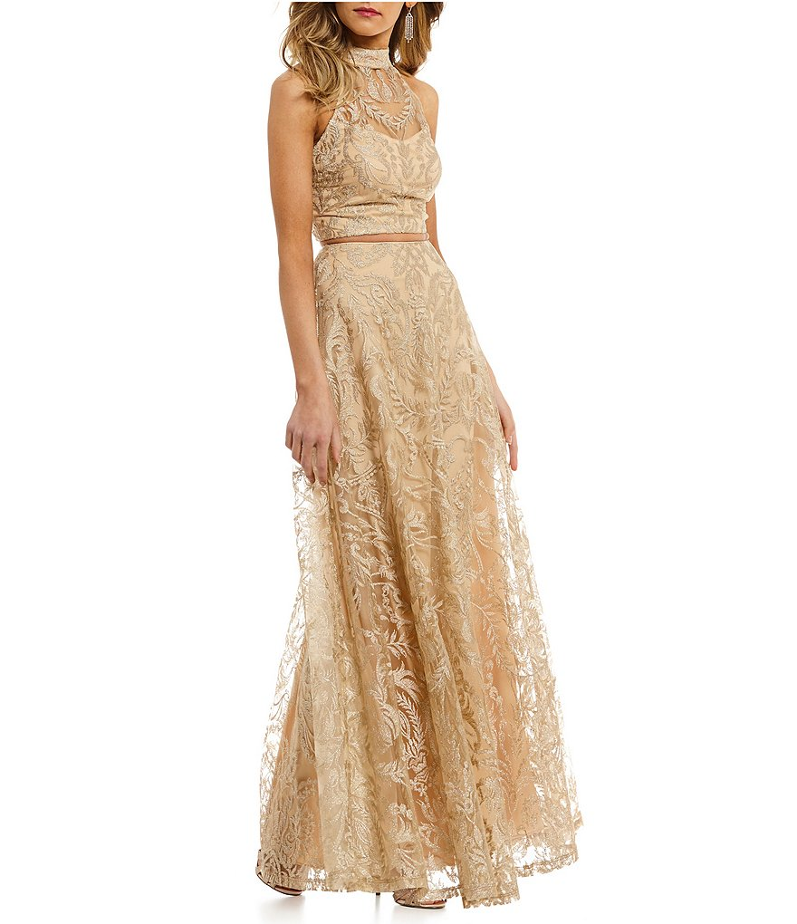 Xtraordinary Embroidered Long Two-Piece Dress