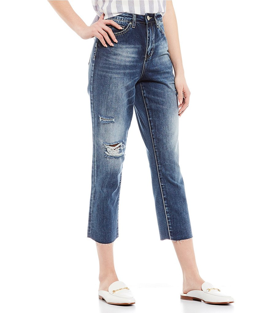 YMI Jeanswear Juniors 1-Button Basic 5-Pocket Mid-Rise Ankle Skinny Jeans