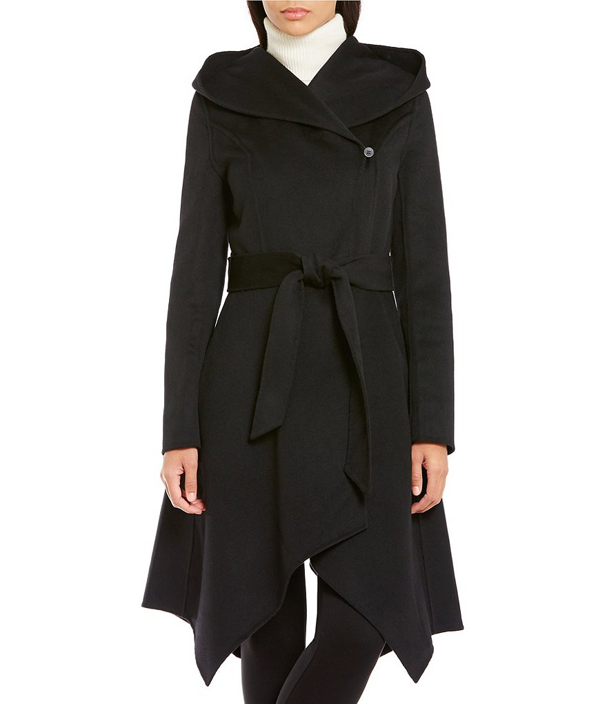 Zac Posen Sophia Handkerchief Wool Hooded Coat