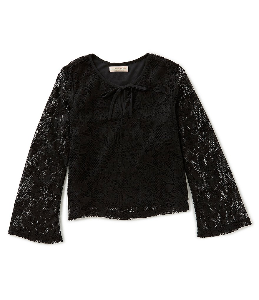 Zoe & Rose by Band of Gypsies Big Girls 7-16 Bell-Sleeve Lace Top