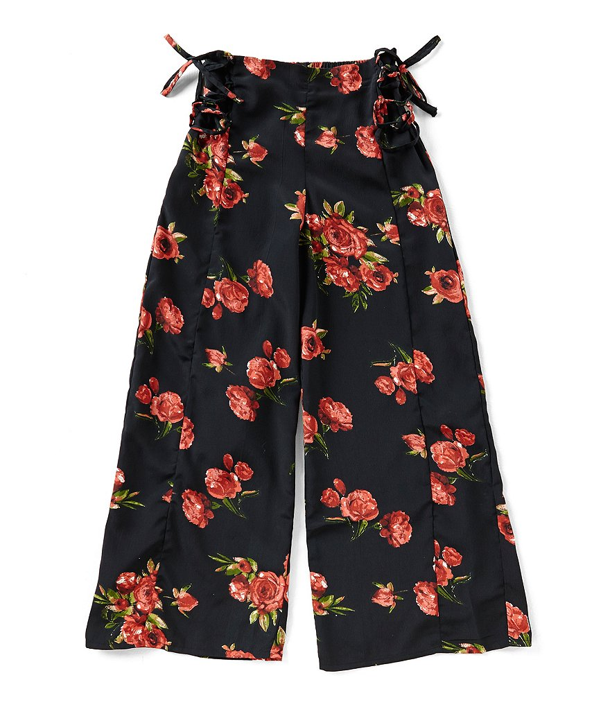 Zoe & Rose by Band of Gypsies Big Girls 7-16 Floral-Print Palazzo Pants