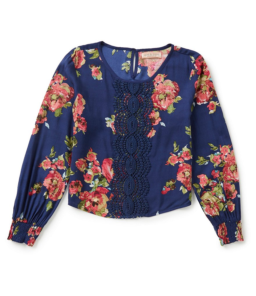 Zoe & Rose by Band of Gypsies Big Girls 7-16 Floral Top