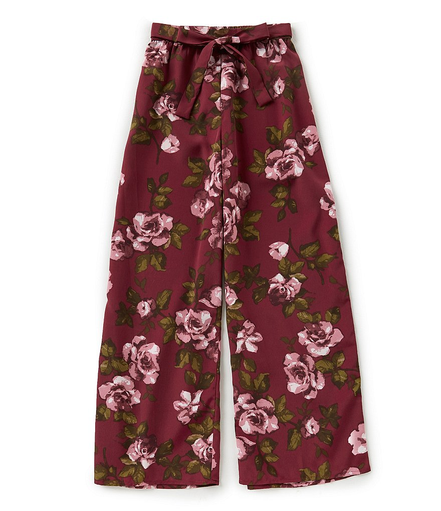 Zoe & Rose by Band of Gypsies Big Girls 7-16 Floral Wide-Leg Gauze Pants