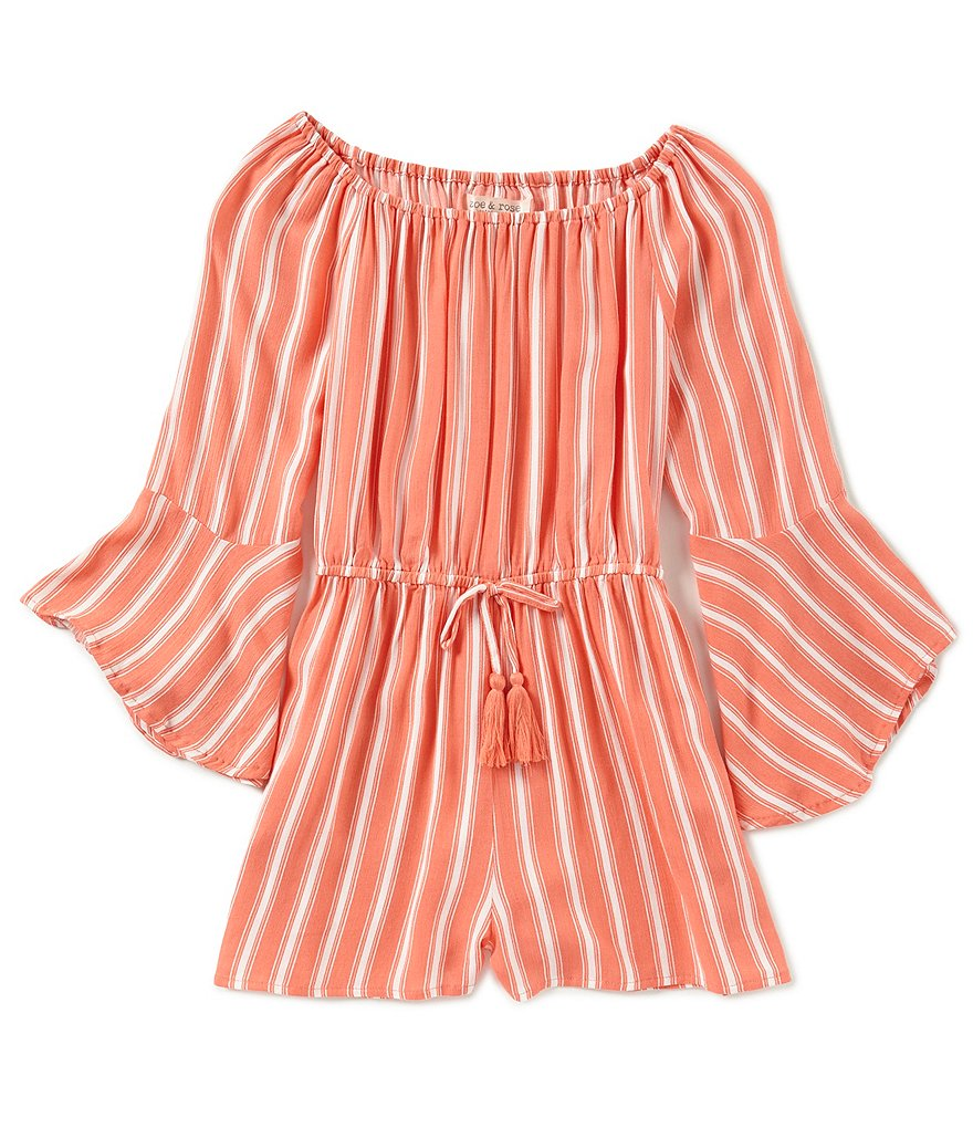 Zoe & Rose by Band of Gypsies Big Girls 7-16 Striped Romper