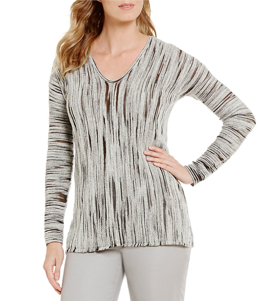 ZOZO Creek V-Neck Dolman Sleeve Printed Top