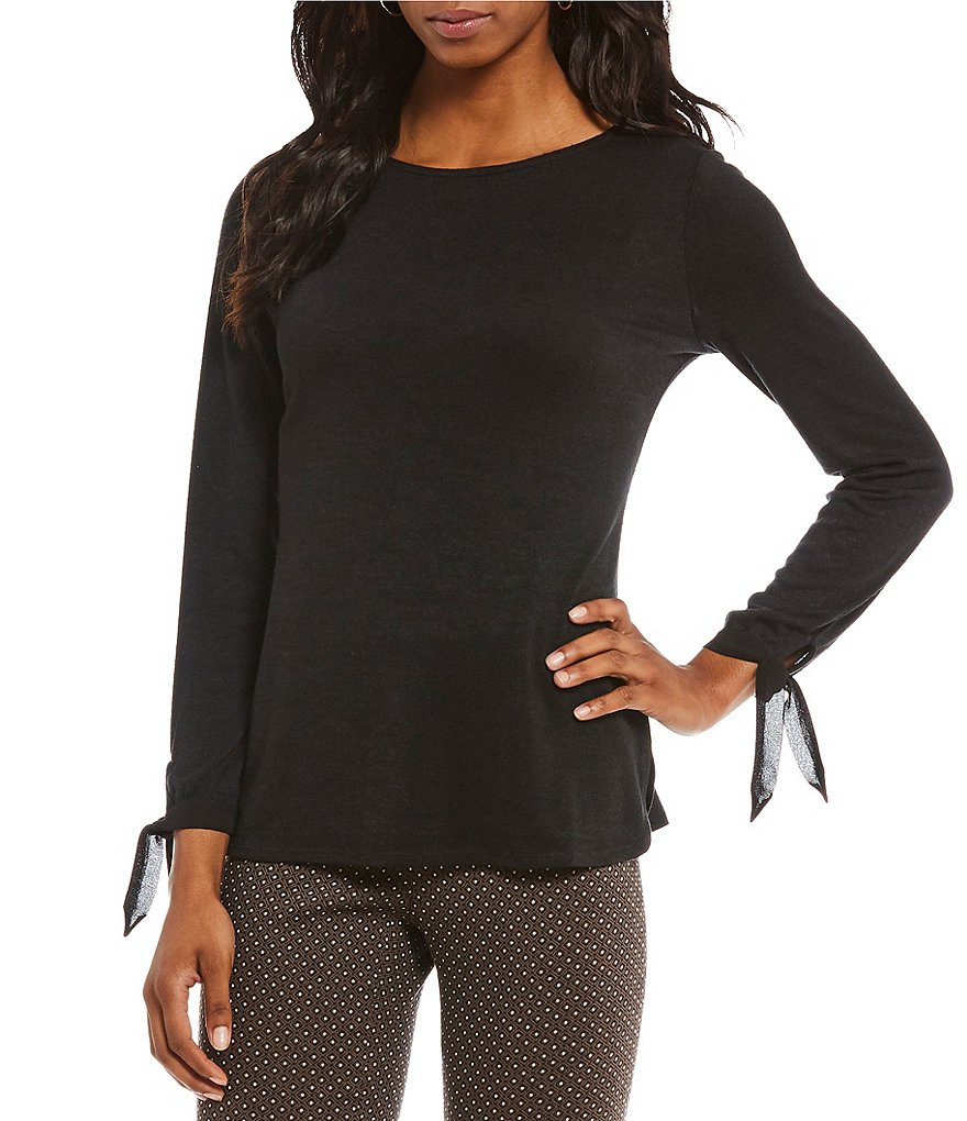 ZOZO Medley Knit Tie Sleeve Top
