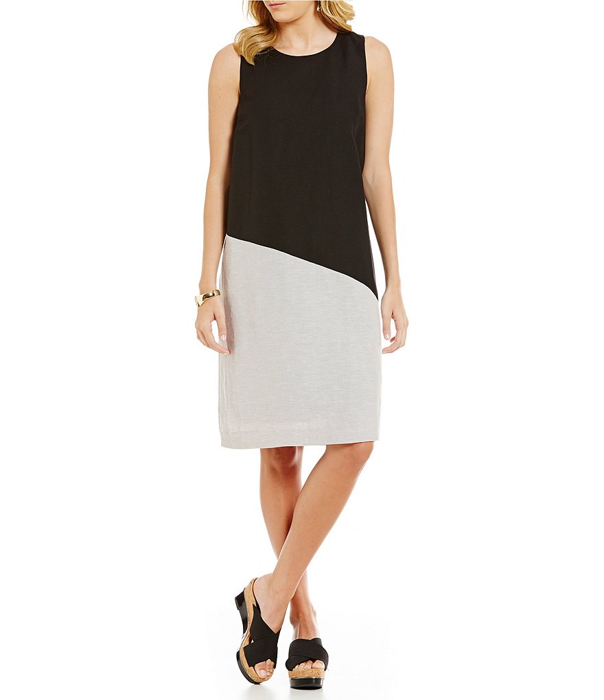 ZOZO Vertical Color Block Sleeveless Dress