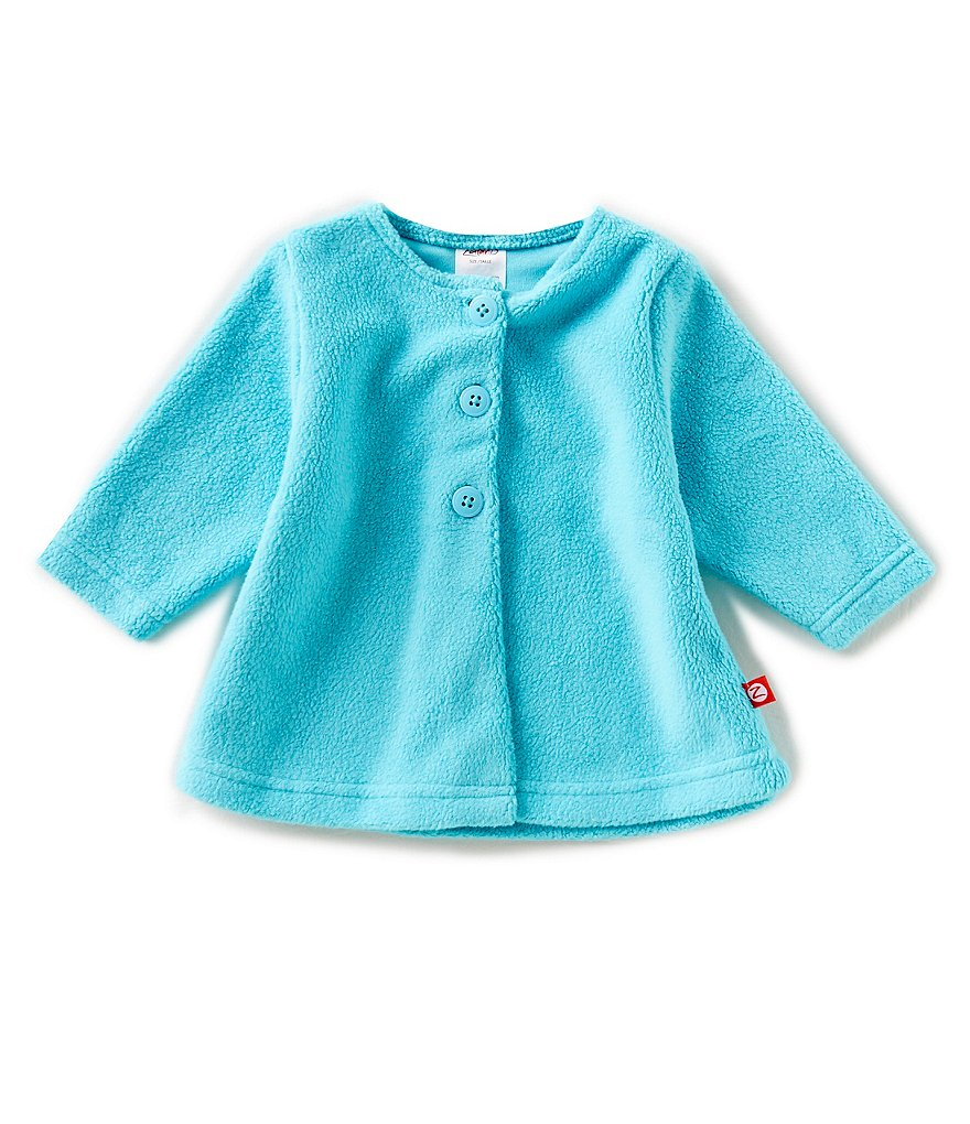 Zutano Baby Girl 6-24 Months Cozie Fleece Swing Jacket