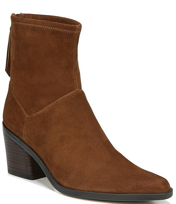 Color:Chestnut Suede - Image 1 - Berkley Suede Block Heel Booties