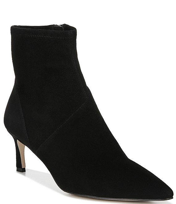 Color:Black Suede - Image 1 - Franca Suede Dress Booties