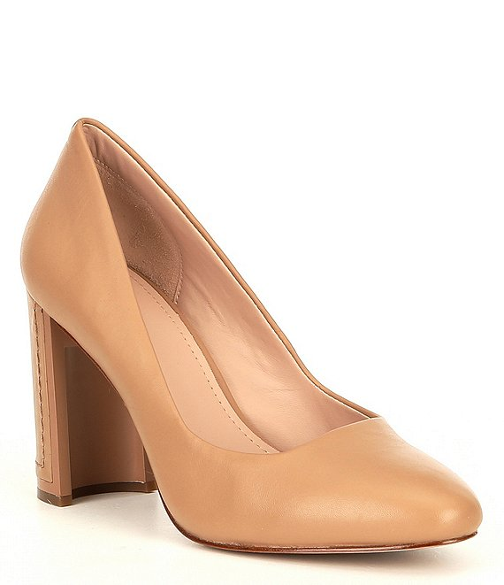 Color:Autumn Kiss - Image 1 - Elodea Leather Block Heel Pumps