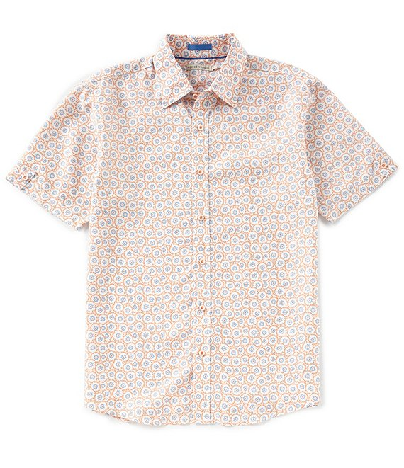 Age of Wisdom Batik Print Short-Sleeve Woven Shirt