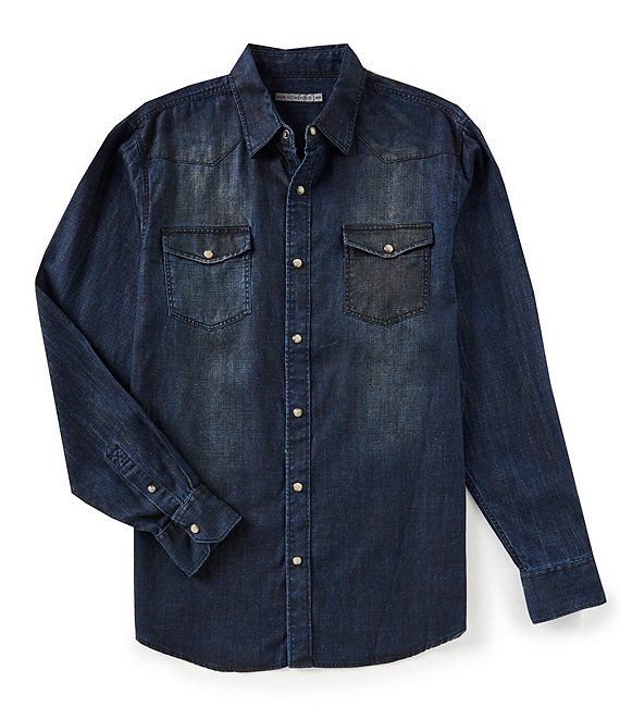 Age of Wisdom Denim Long-Sleeve Woven Shirt