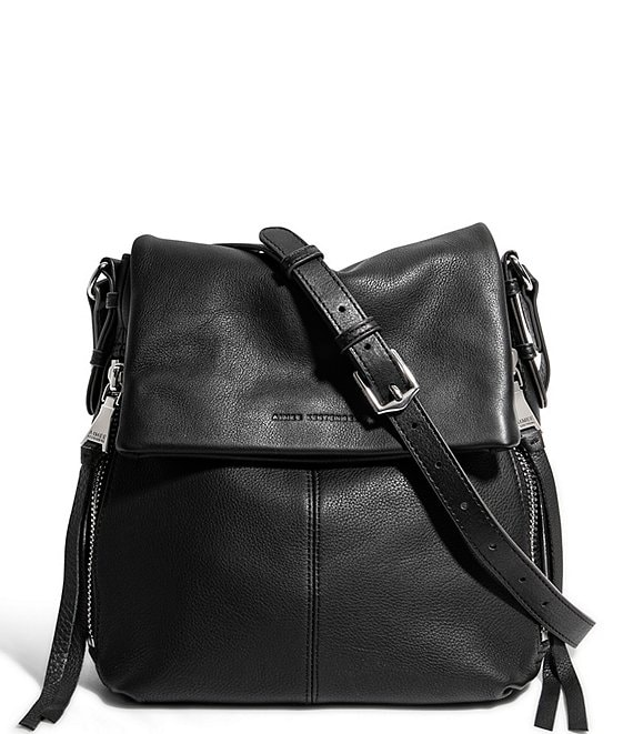 Color:Black - Image 1 - Bali North South Leather Crossbody Bag