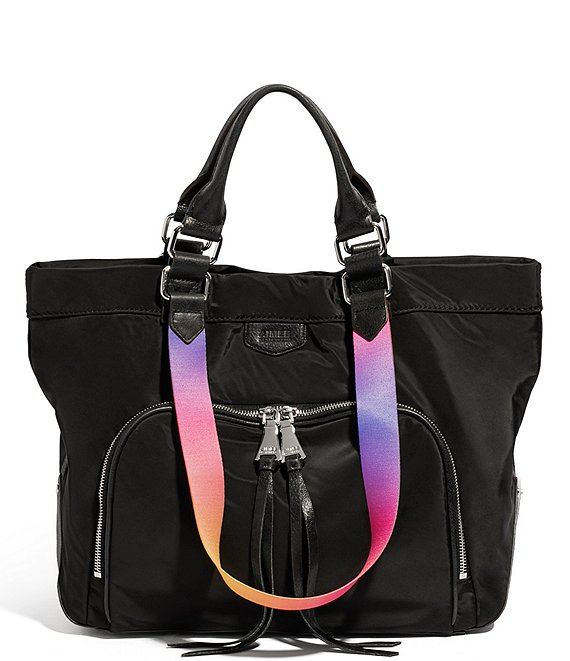Color:Black - Image 1 - Lighten Up Convertible Tote Bag