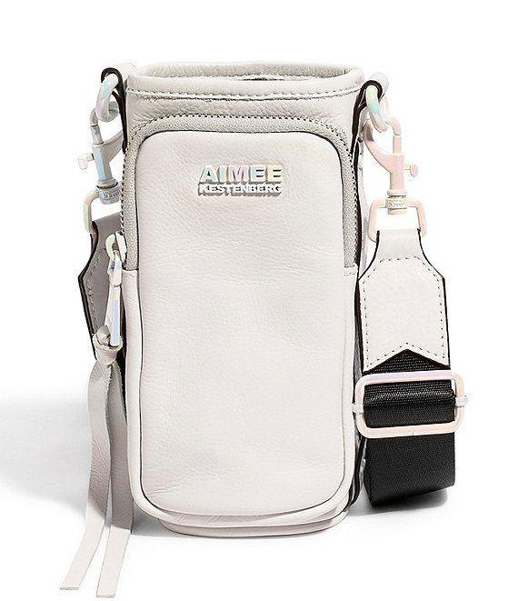 Color:Cloud/Pearl Metallic - Image 1 - On Top Of The World Tie Dye Water Bottle Crossbody Bag