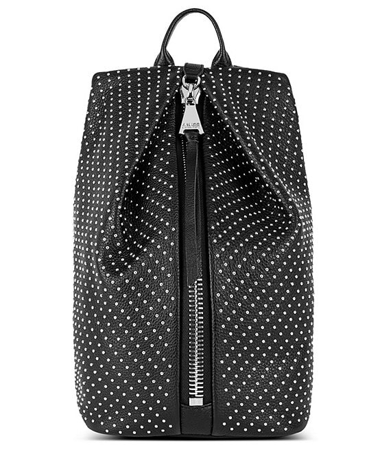 Color:Black - Image 1 - Tamitha Studded Mini Backpack