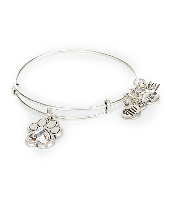Alex and Ani Prints of Love Charm Bangle Bracelet