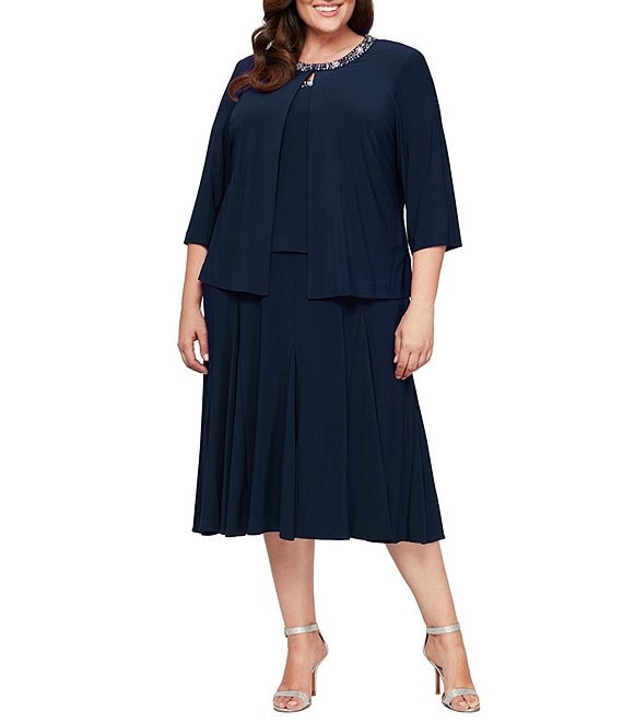 3f80d5d9461 Alex Evenings Plus Beaded Jacket Dress