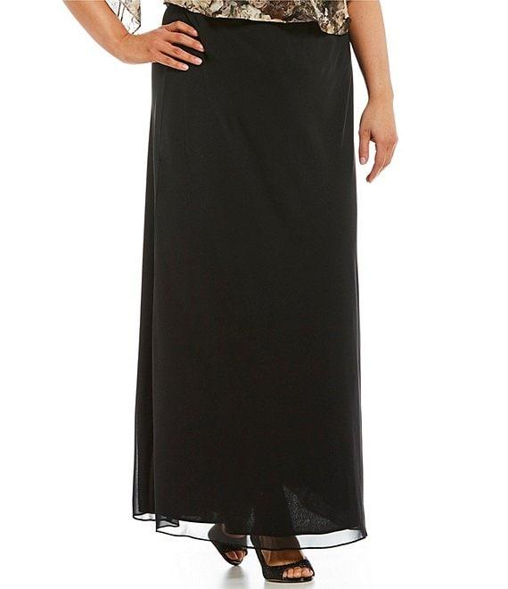 20e0d55123 Alex Evenings Plus Chiffon Column A-Line Skirt | Dillard's
